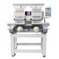VE 1502 CAP-SE2 Промышленная 2-головочная 15-ти цветная вышивальная машина для рукавной вышивки с облегчённым корпусом.